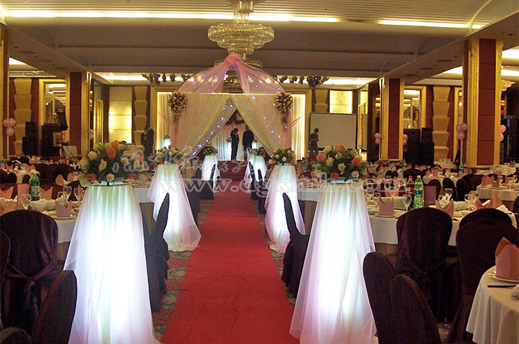中式婚礼迎宾花柱